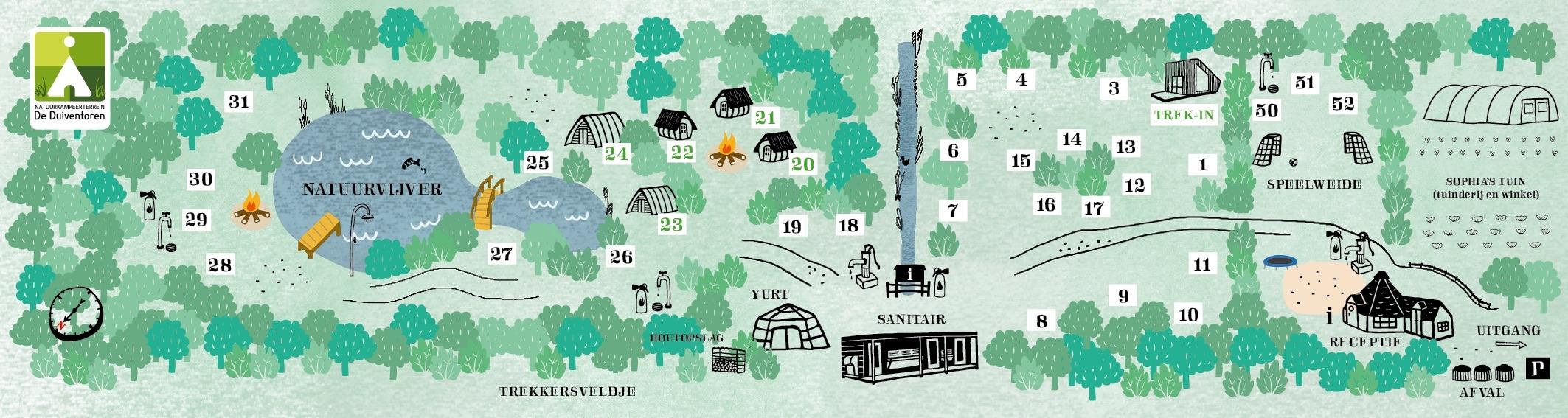 Plattegrond 2017 - Natuurkampeerterrein De Duiventoren