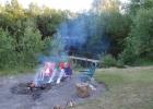Vuurplaats bij de natuurvijver